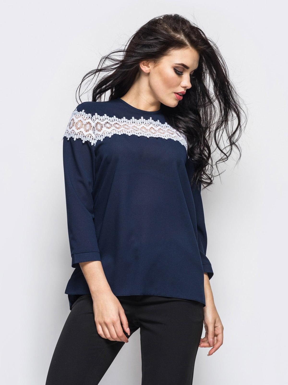 Блуза синяя | 4148710