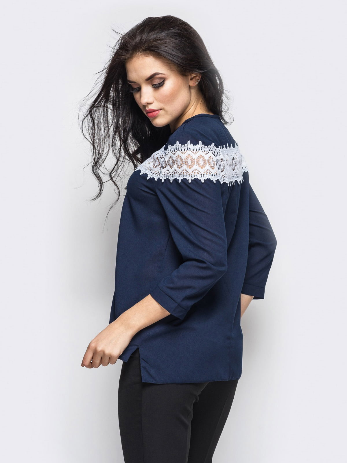 Блуза синяя | 4148710 | фото 2