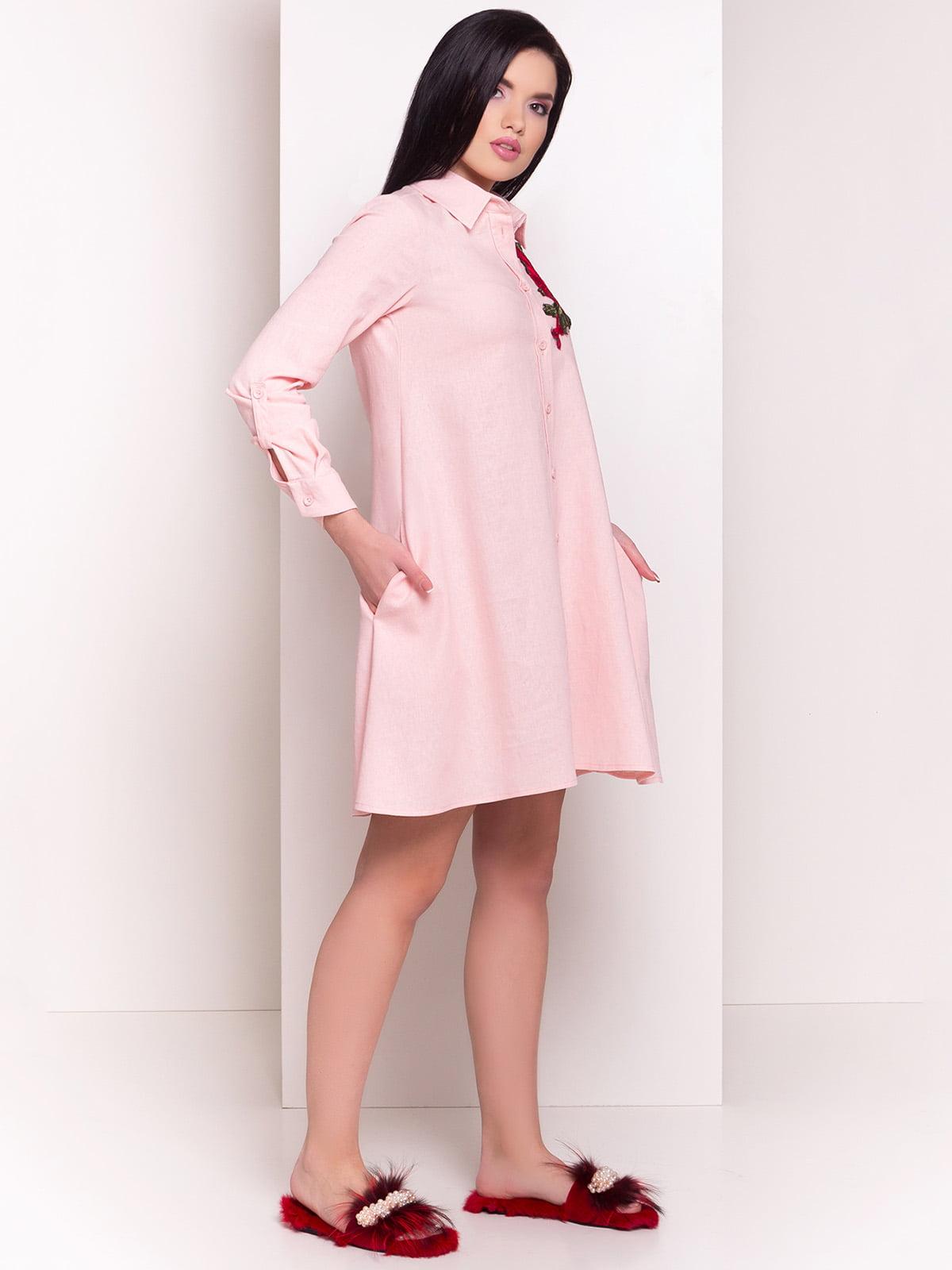 Сукня-сорочка пудрового кольору | 4155515