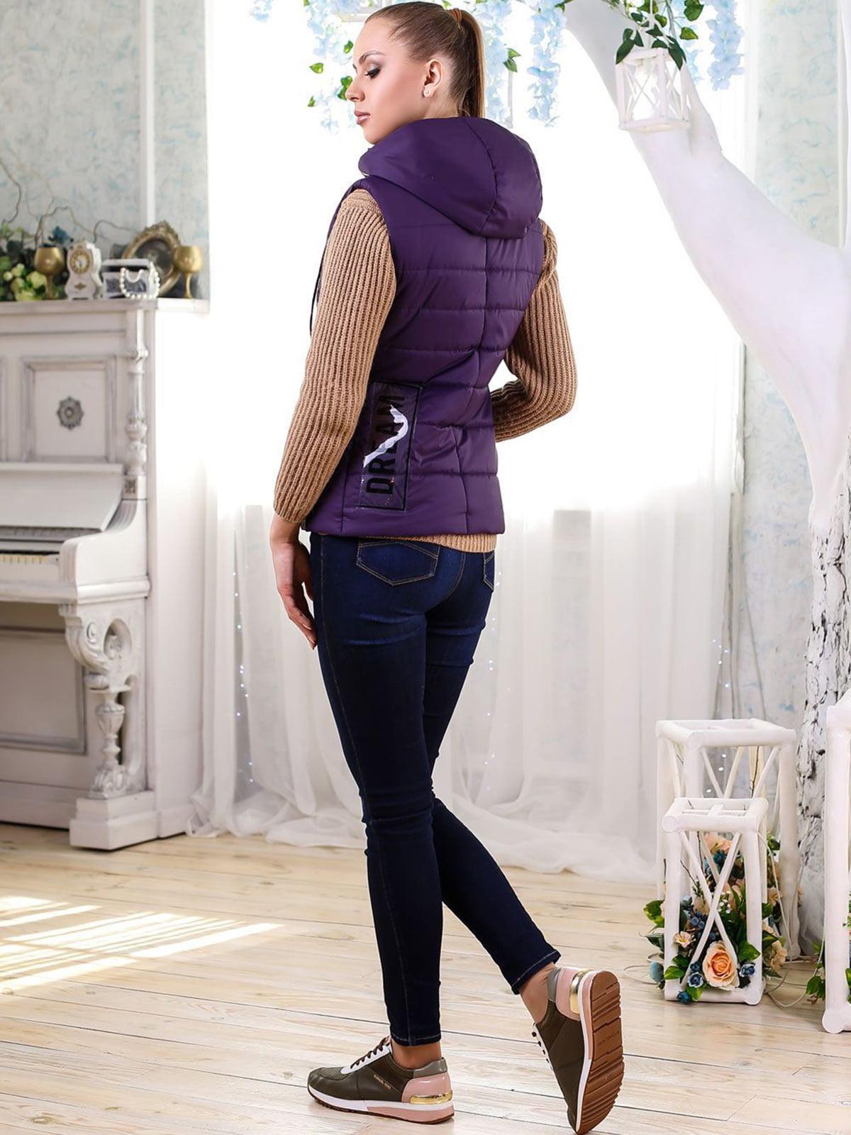 Жилет фиолетовый   4176350   фото 2