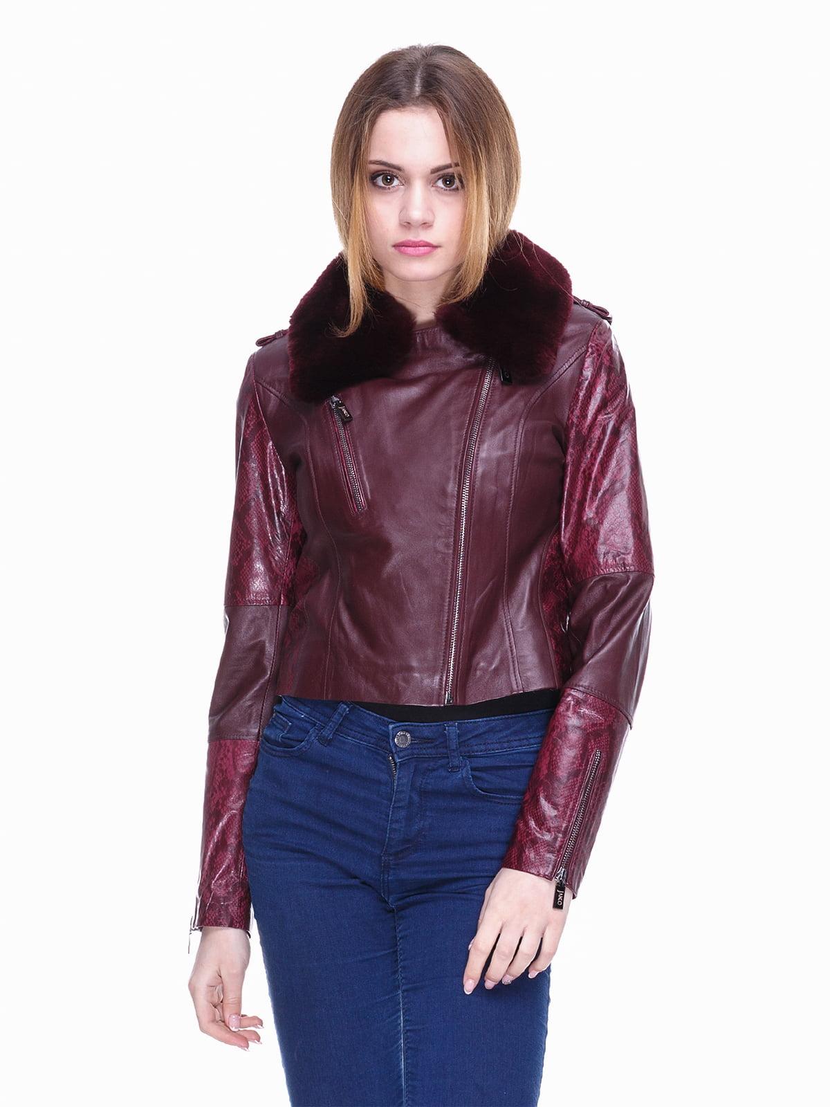 Куртка бордовая | 4170915