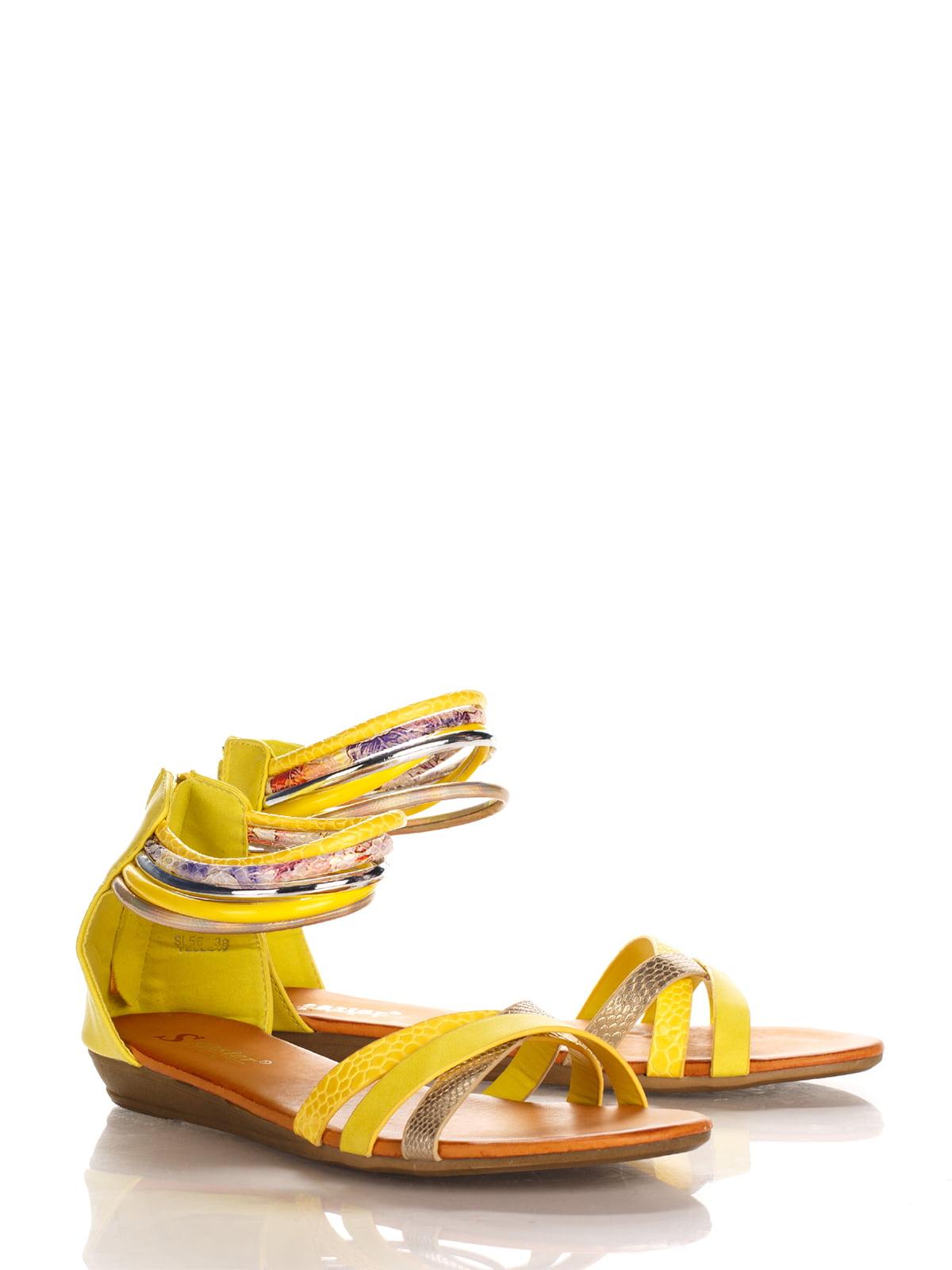 Сандалии желтые   3121231