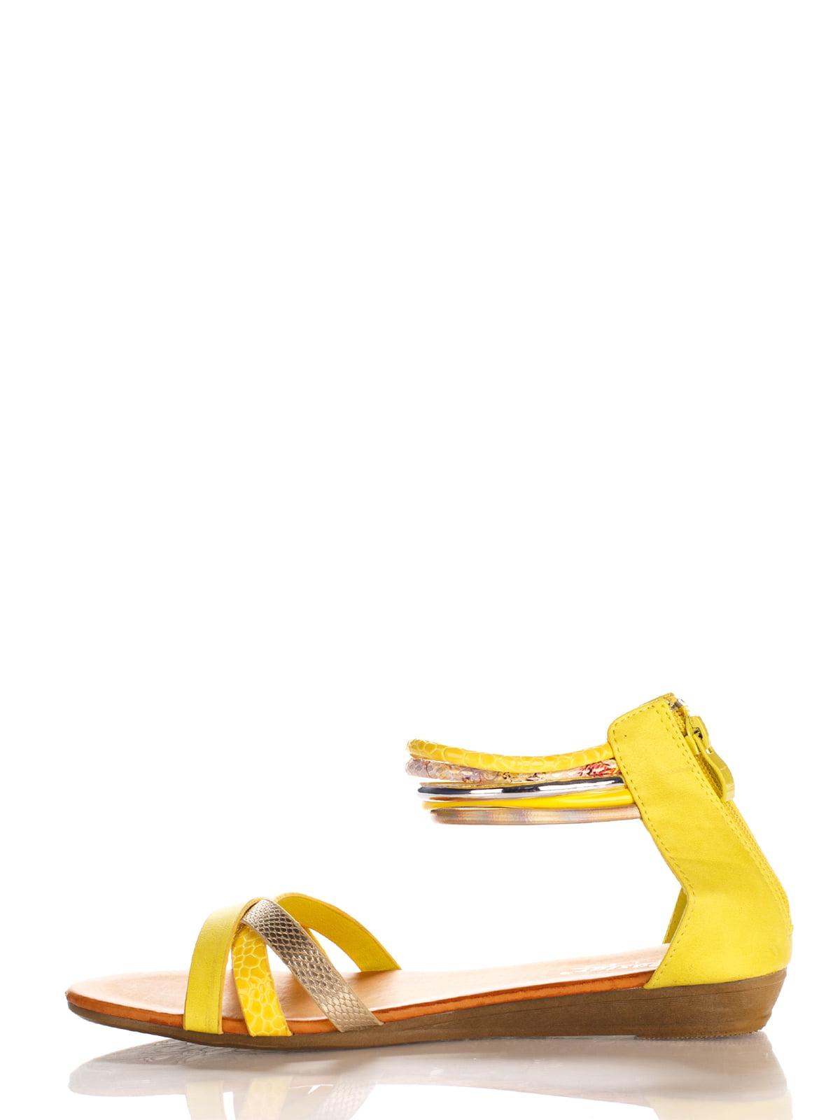 Сандалии желтые   3121231   фото 3