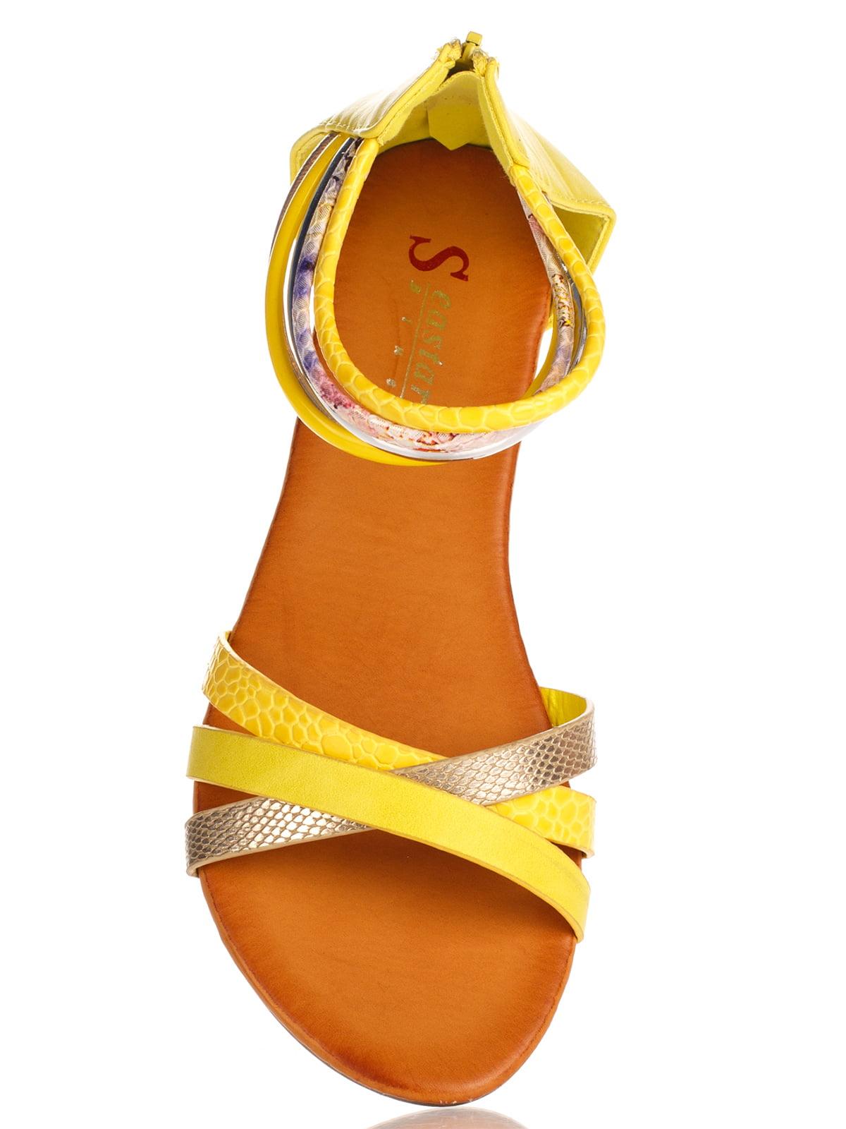 Сандалии желтые   3121231   фото 5