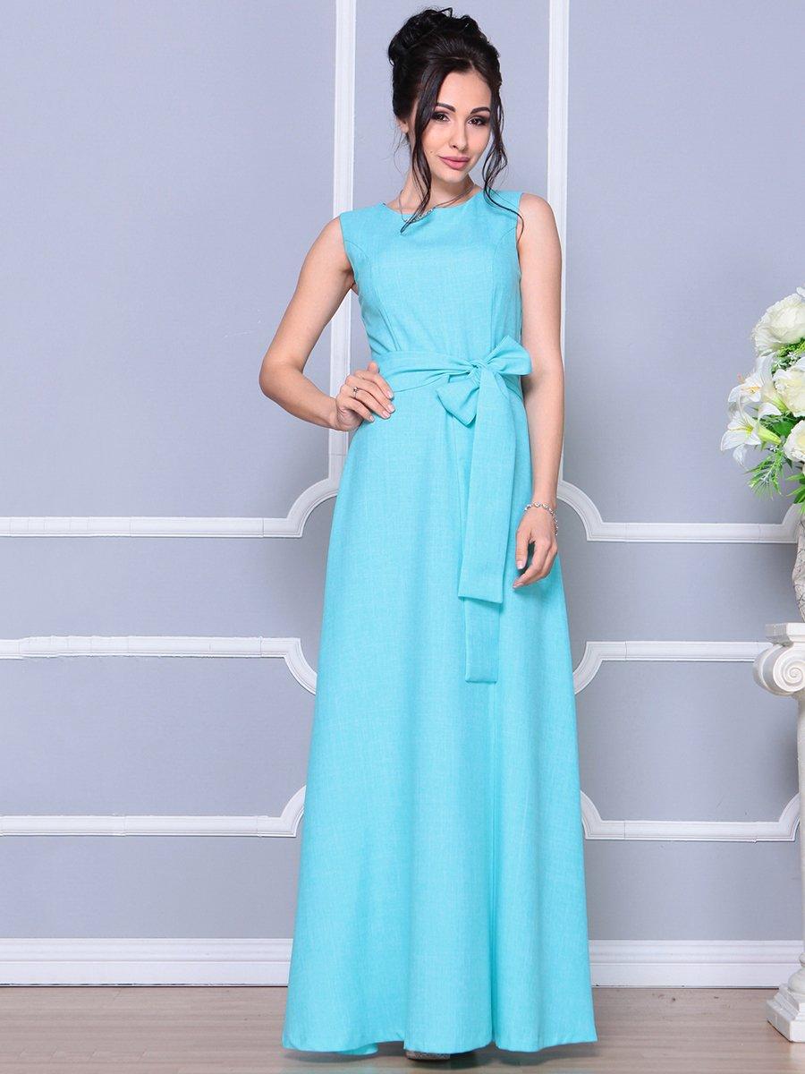 Платье ментолового цвета   4178055
