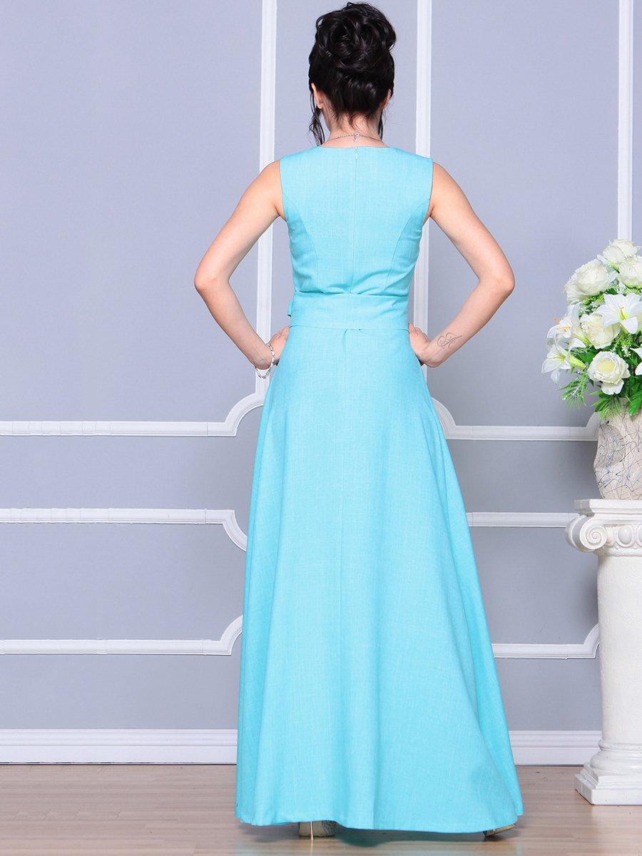 Платье ментолового цвета   4178055   фото 2