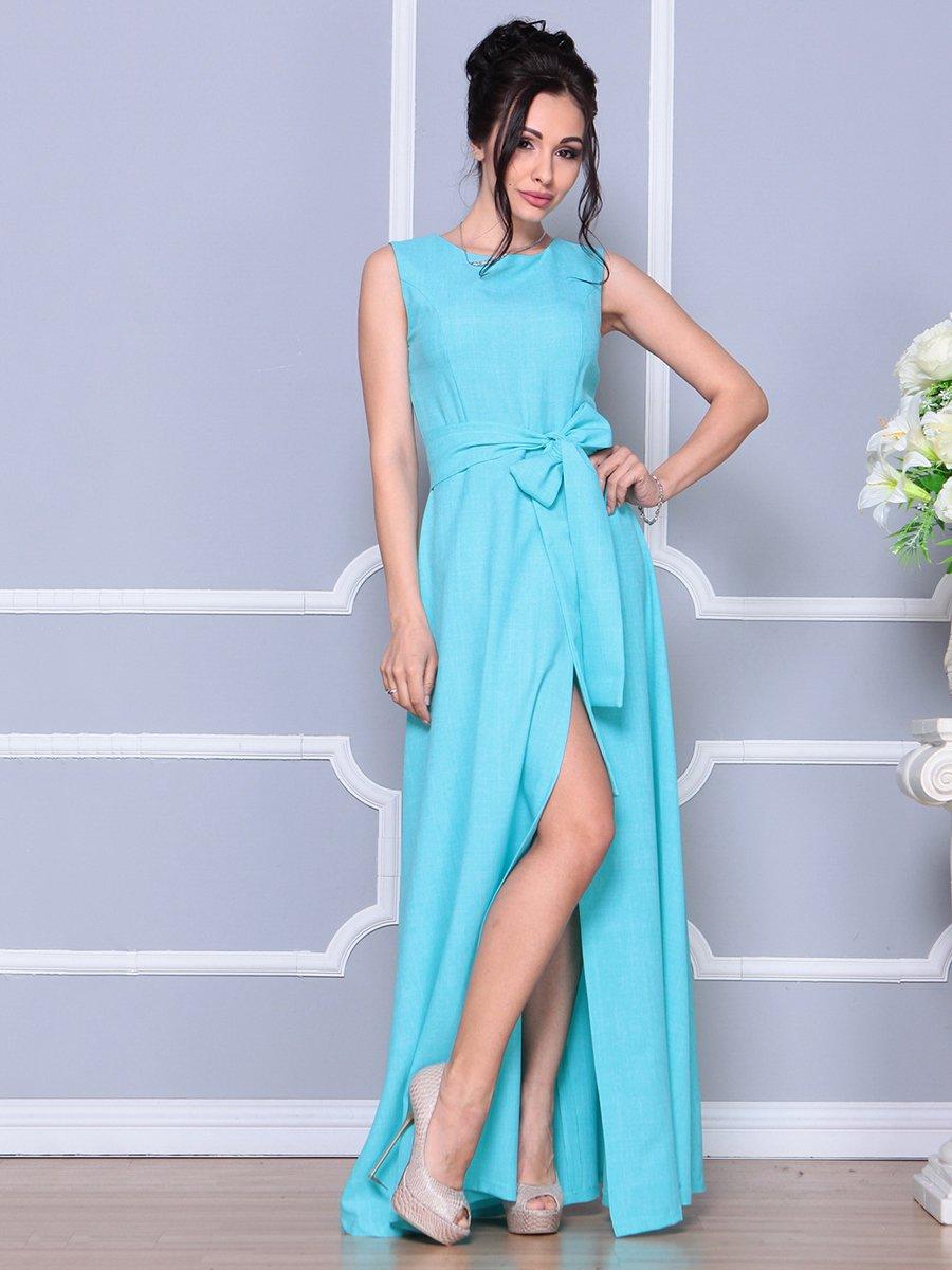 Платье ментолового цвета   4178055   фото 3