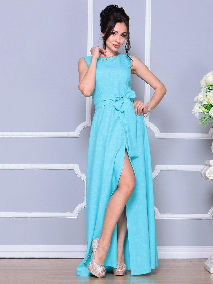 Платье ментолового цвета   4178055   фото 4