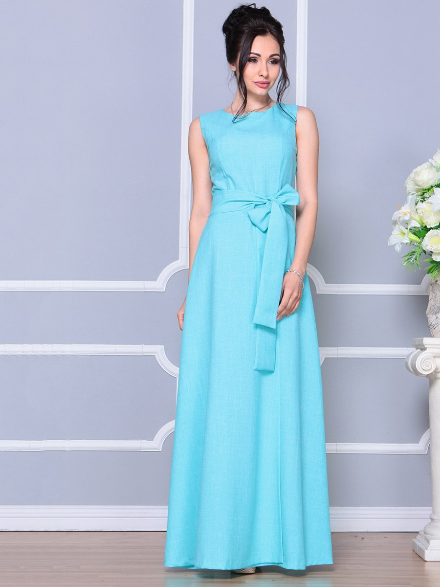 Платье ментолового цвета   4178055   фото 5