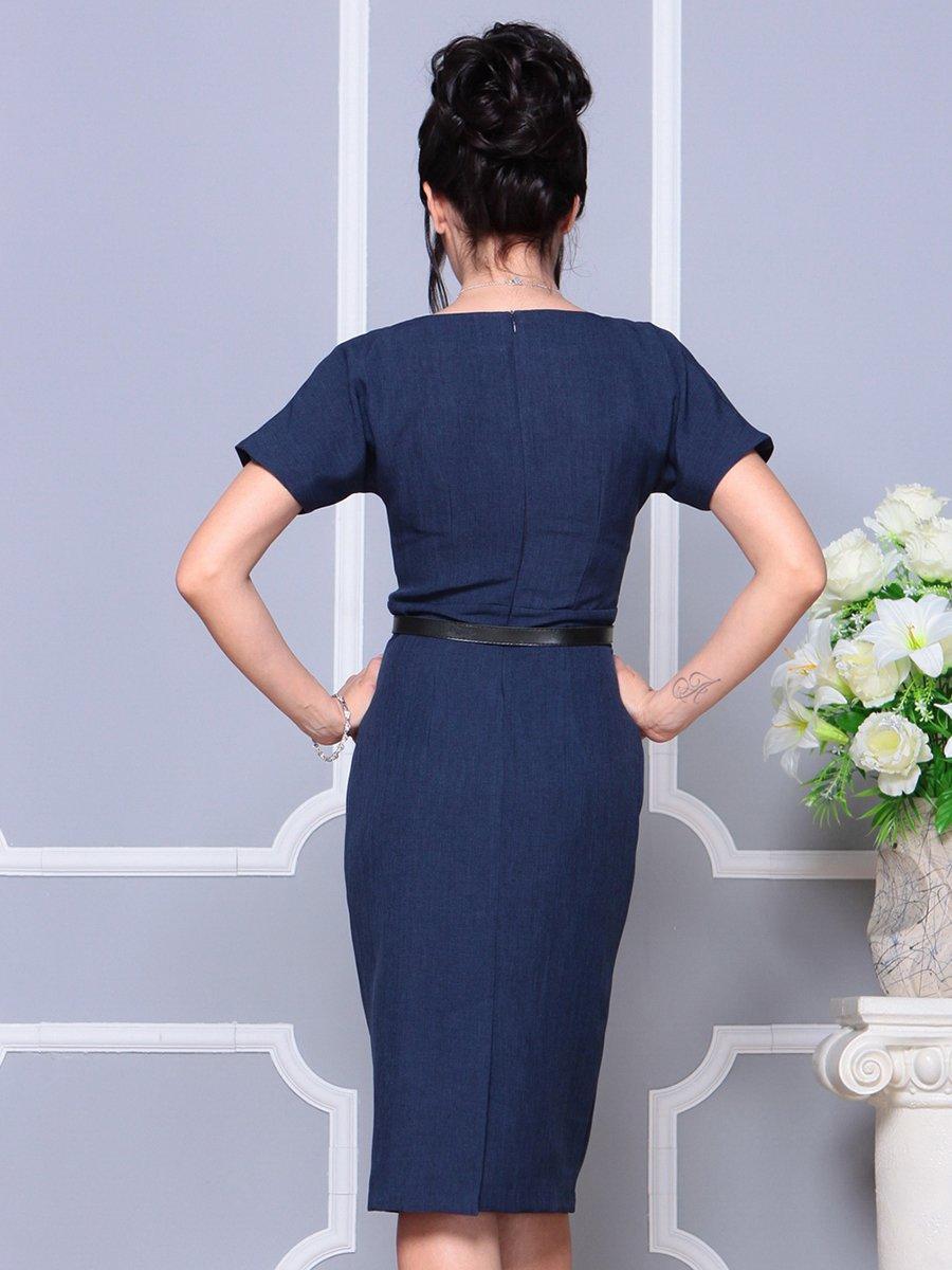 Платье темно-синее | 4178057 | фото 2