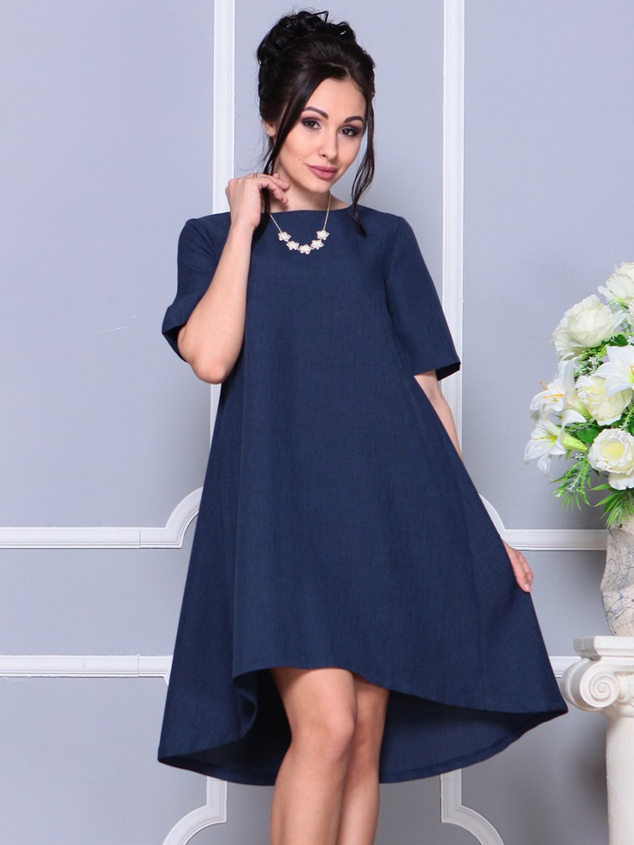 Платье темно-синее | 4178068 | фото 3