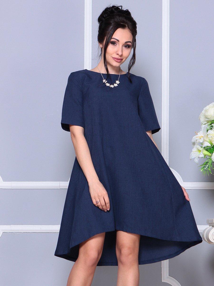 Платье темно-синее | 4178068 | фото 5