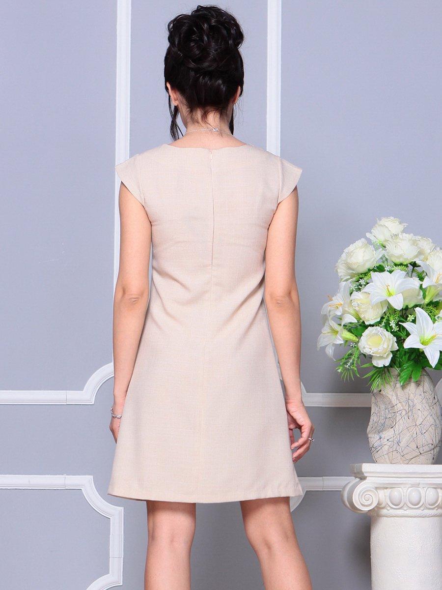 Платье бежевое | 4178075 | фото 2