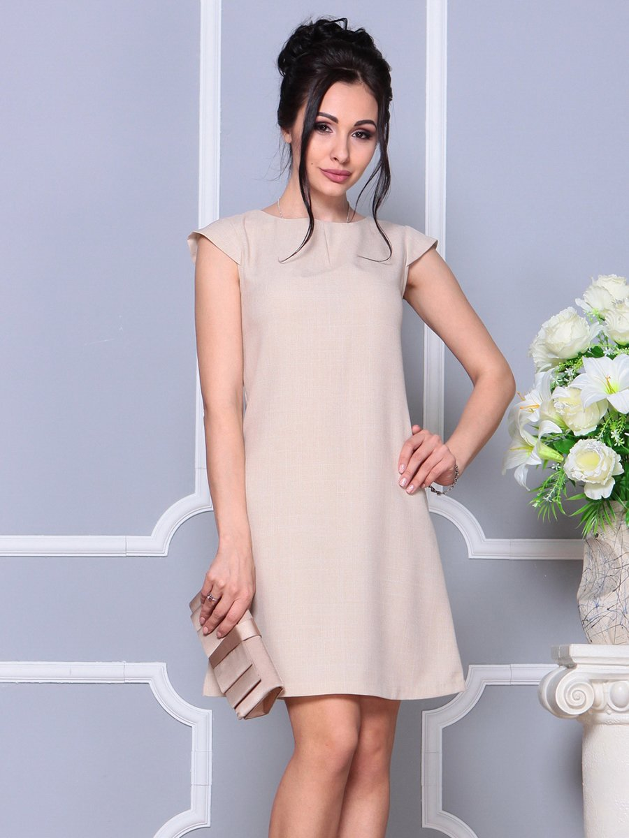Платье бежевое | 4178075 | фото 3