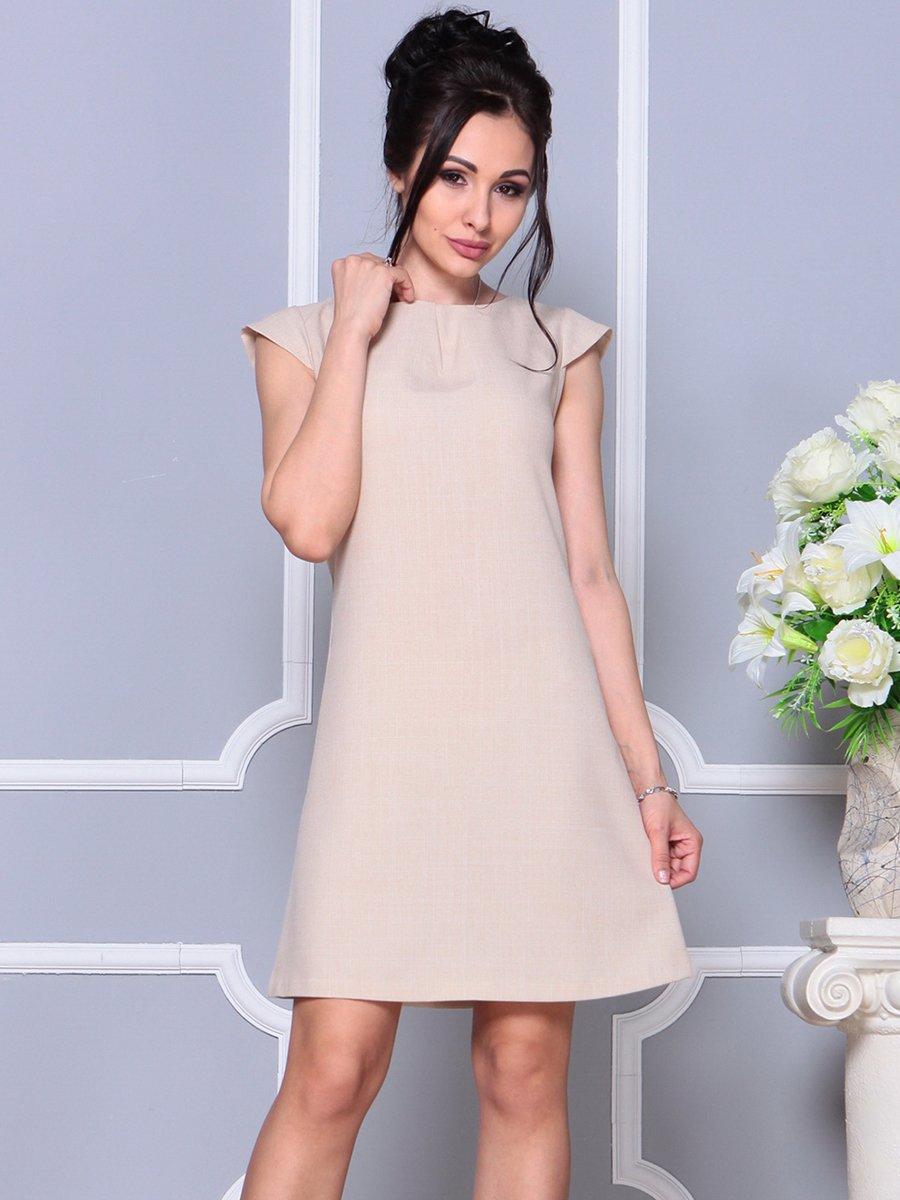 Платье бежевое | 4178075 | фото 4