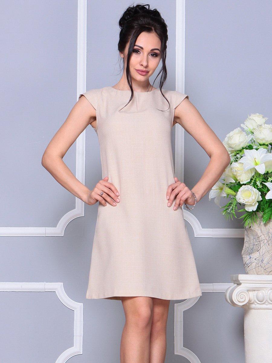 Платье бежевое | 4178075 | фото 5