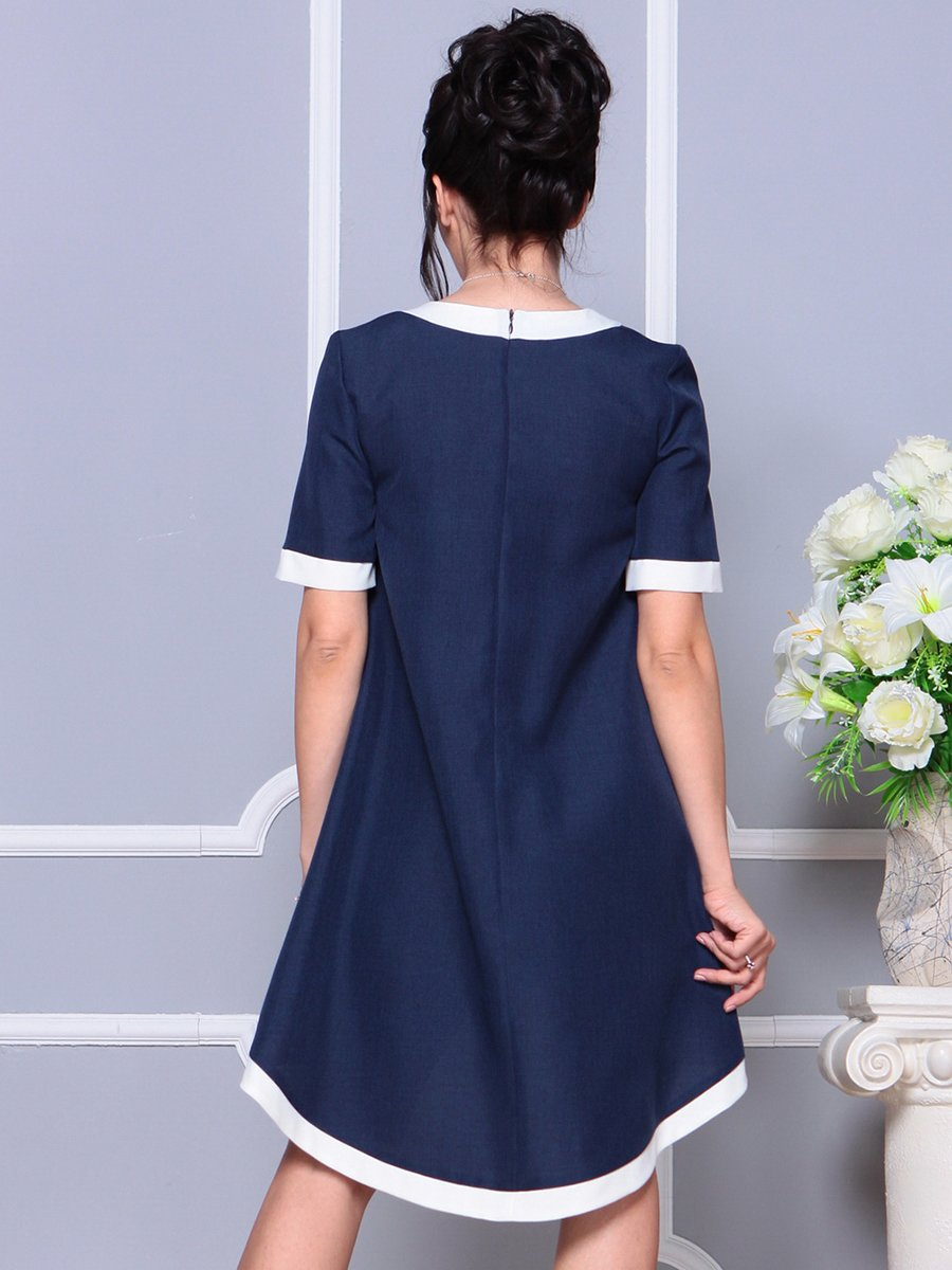 Платье темно-синее | 4178092 | фото 2