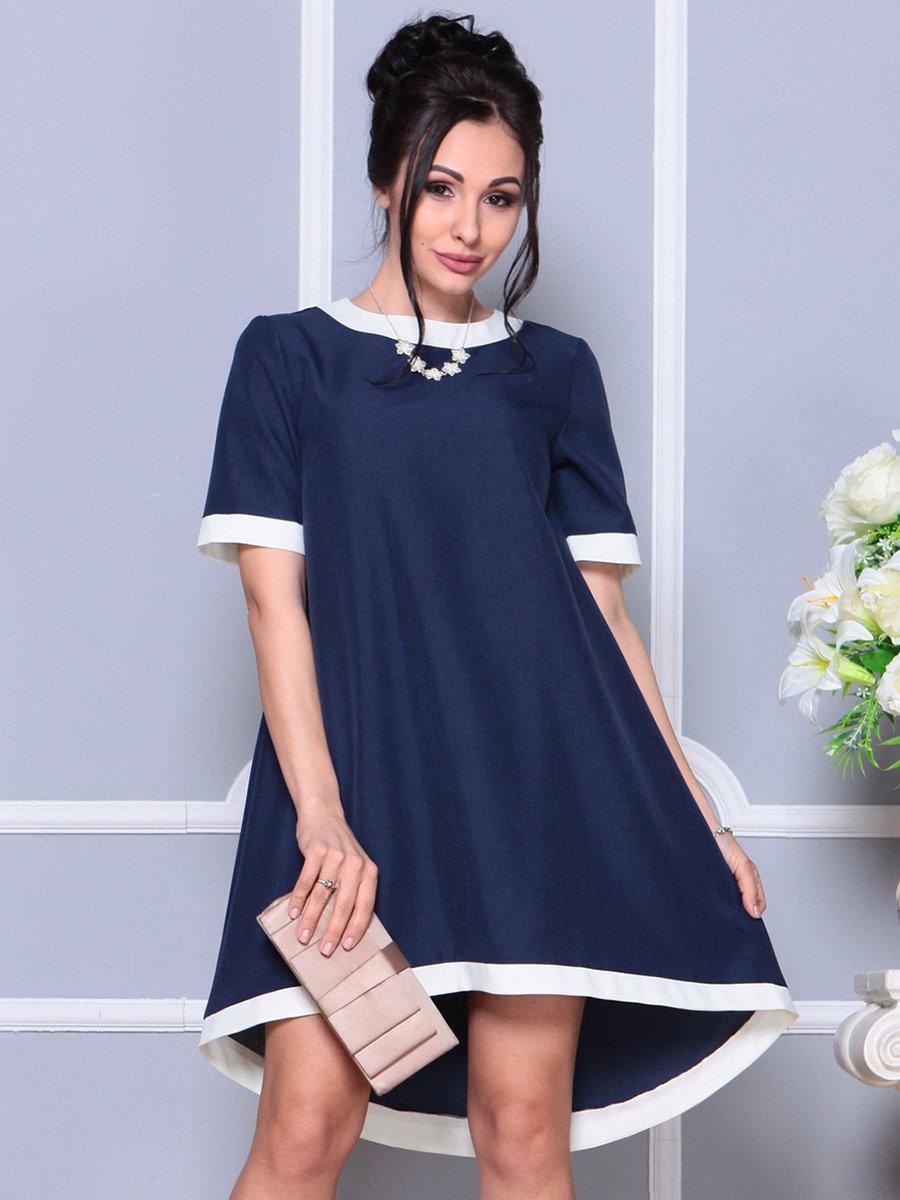 Платье темно-синее | 4178092 | фото 3