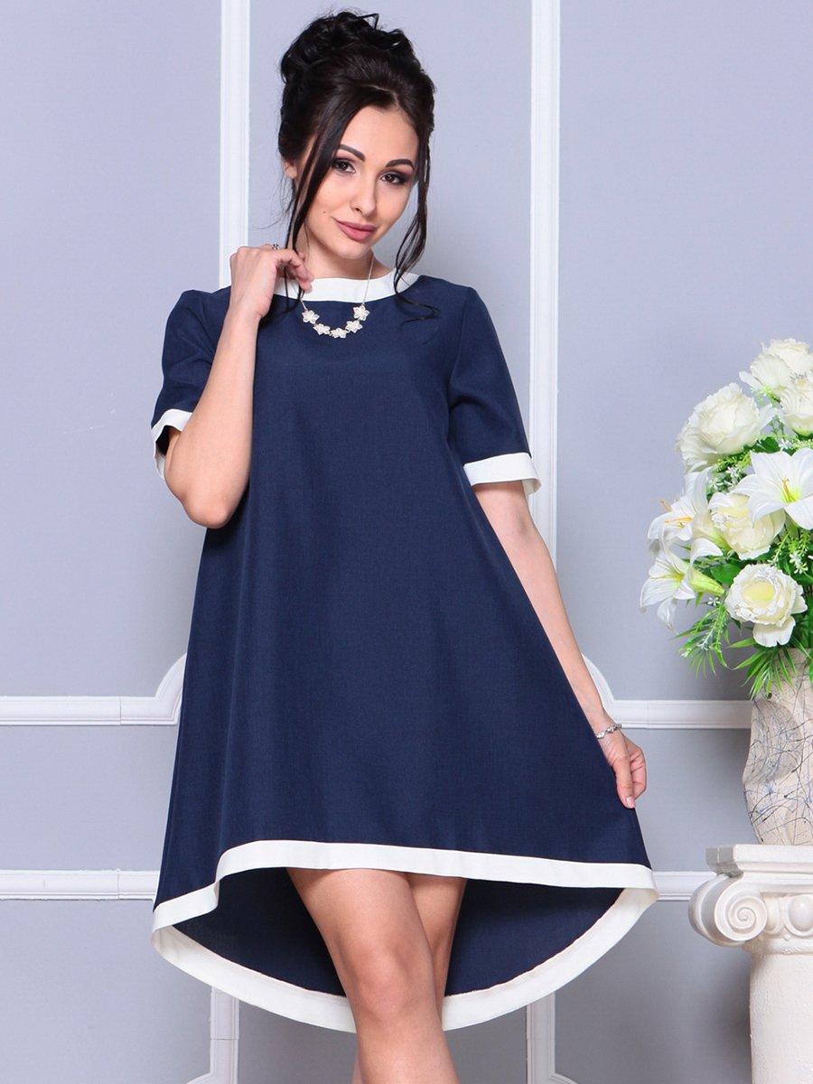 Платье темно-синее | 4178092 | фото 5