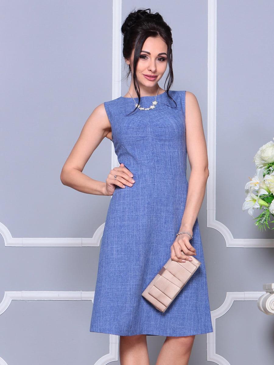Платье-сарафан синее | 4178095