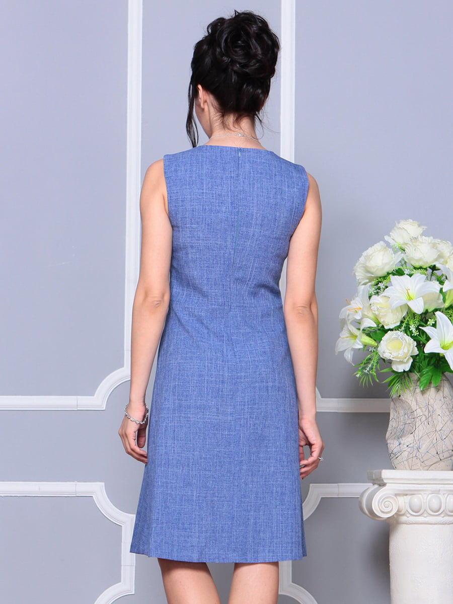 Платье-сарафан синее | 4178095 | фото 2