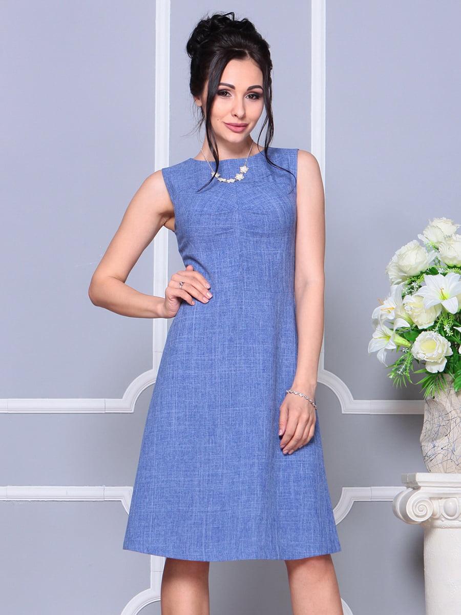 Платье-сарафан синее | 4178095 | фото 3