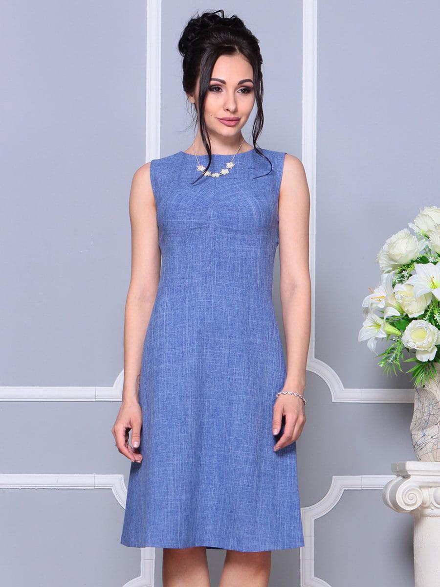 Платье-сарафан синее | 4178095 | фото 4