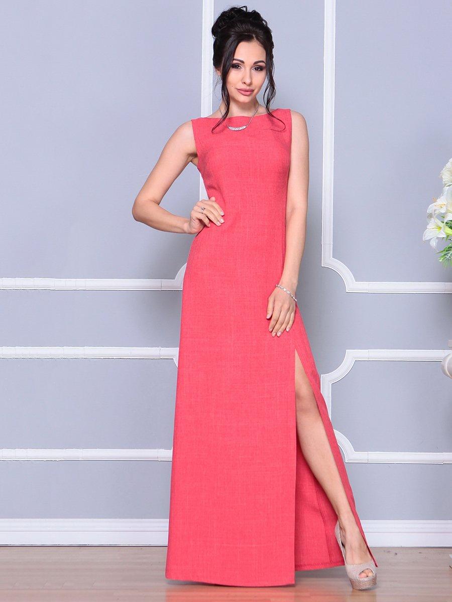 Платье цвета красный коралл   4178097