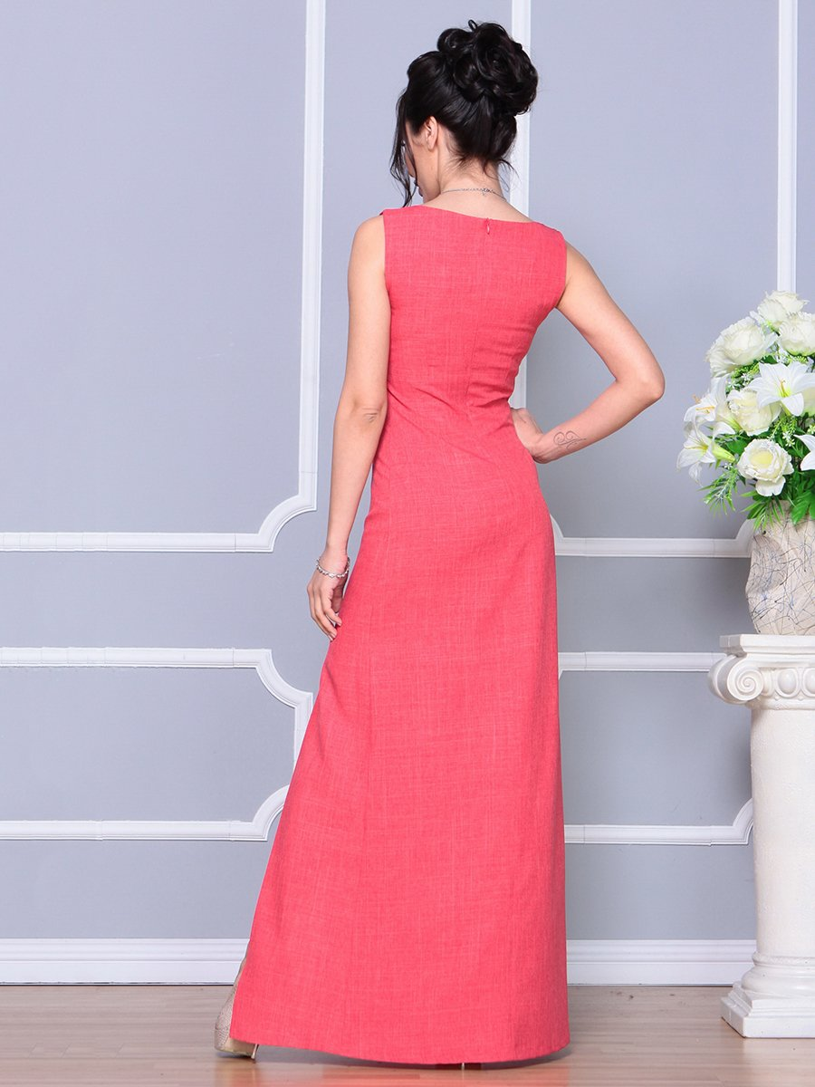 Платье цвета красный коралл   4178097   фото 2