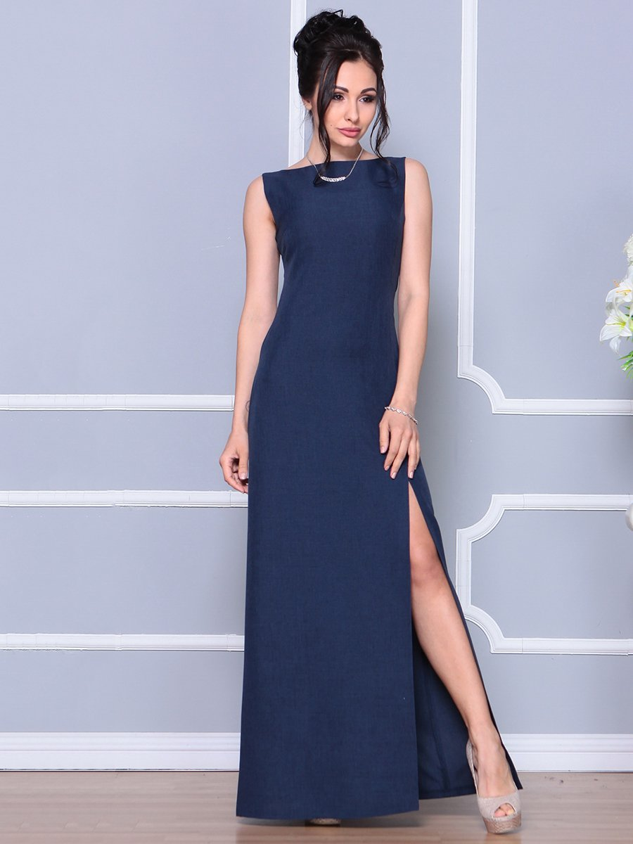 Платье темно-синее | 4178098