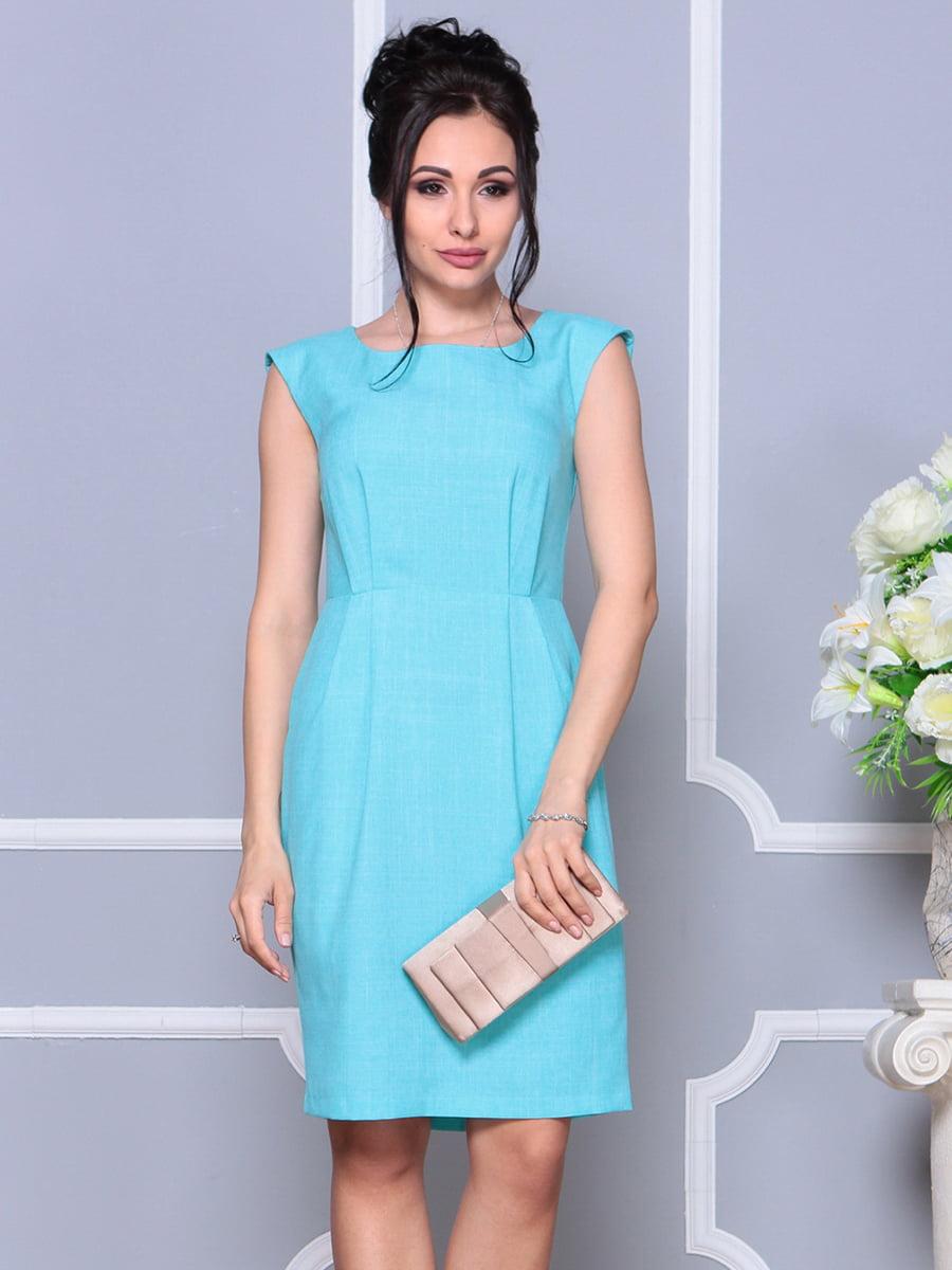 Сукня світло-бірюзова | 4178099