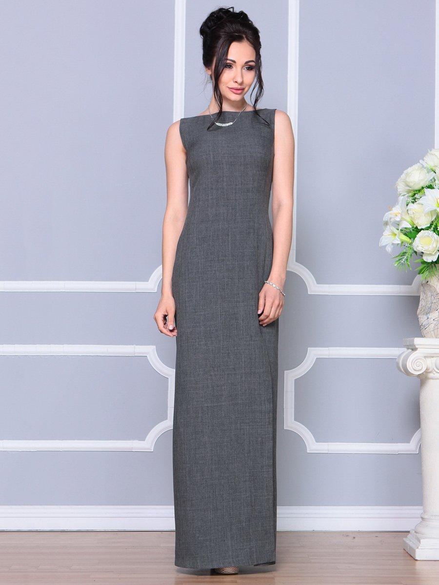 Платье графитового цвета | 4178108 | фото 3