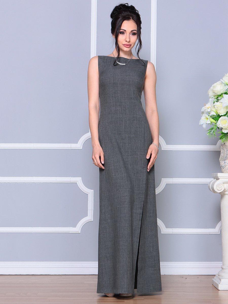 Платье графитового цвета | 4178108 | фото 4