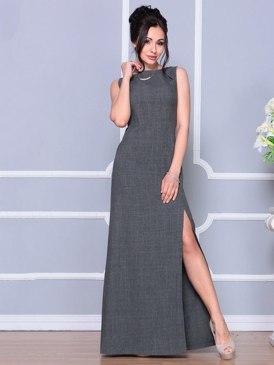 Платье графитового цвета | 4178108 | фото 5