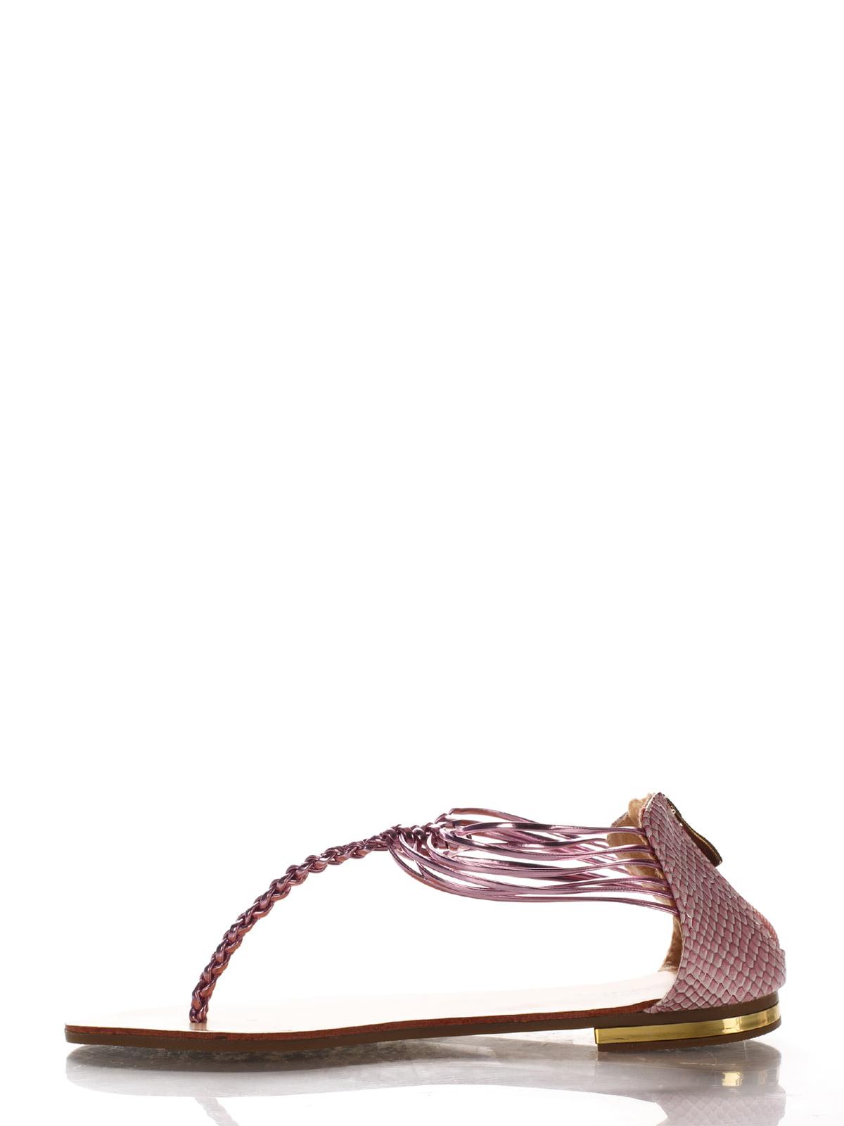 Сандалии-вьетнамки розовые | 2561648 | фото 3
