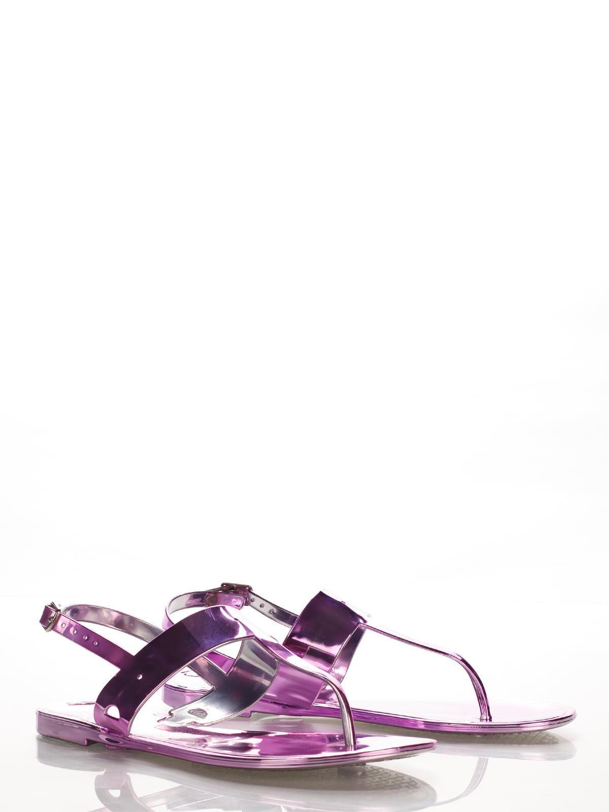Сандалии-вьетнамки фиолетовые | 2561602