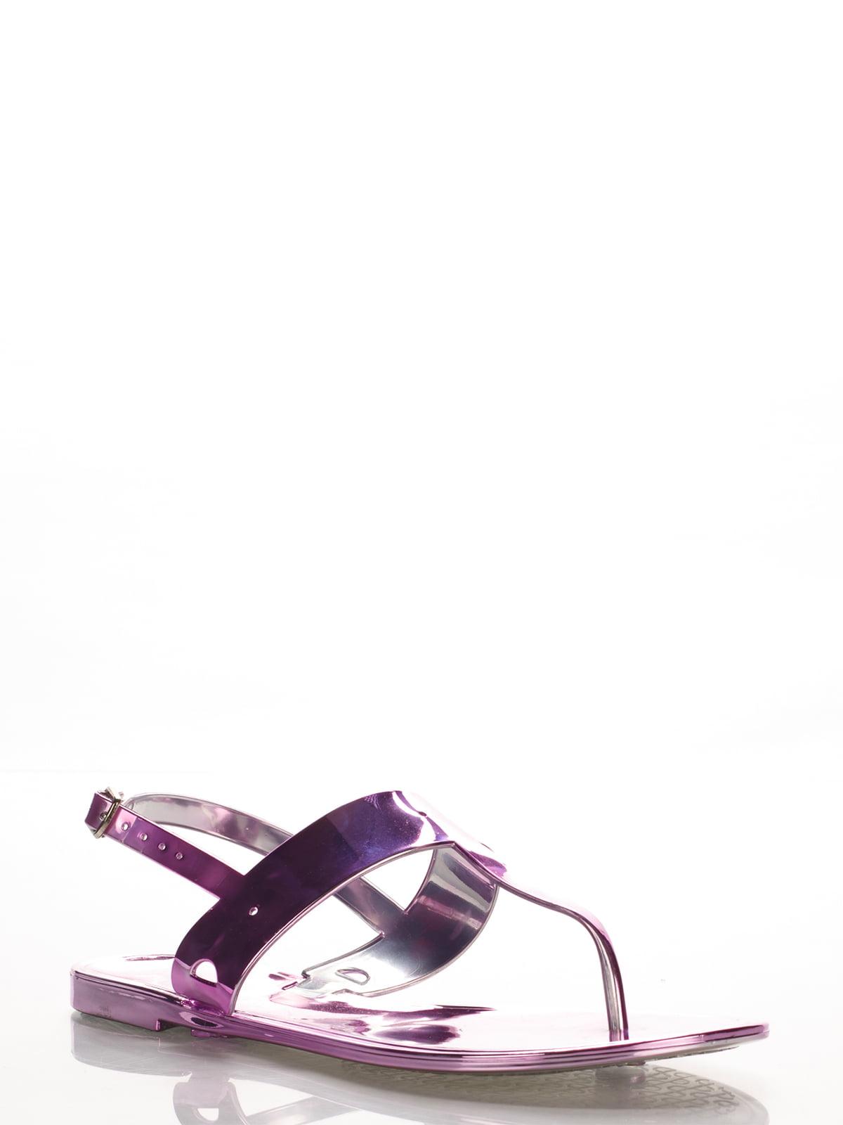 Сандалии-вьетнамки фиолетовые | 2561602 | фото 2