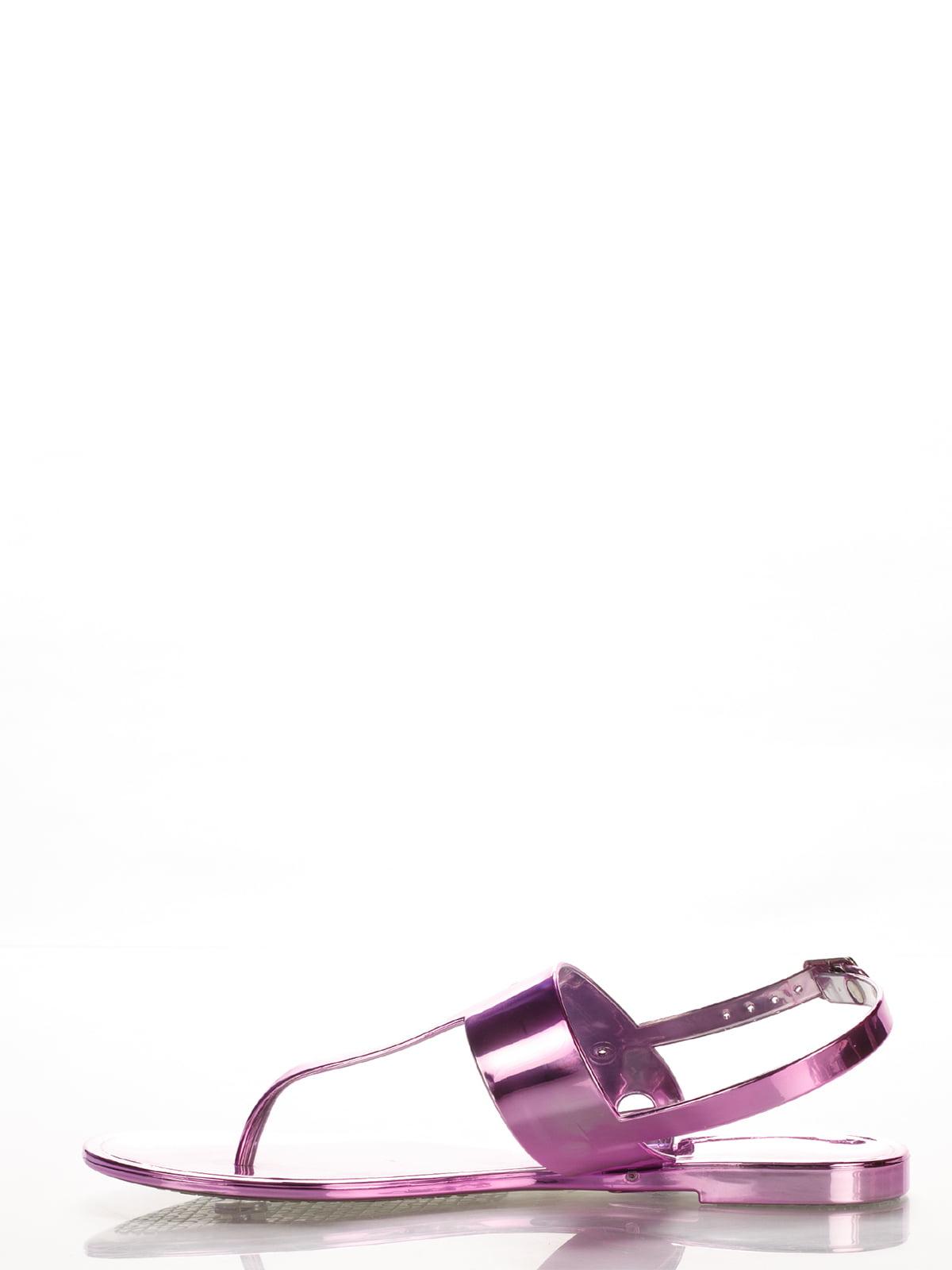Сандалии-вьетнамки фиолетовые | 2561602 | фото 3