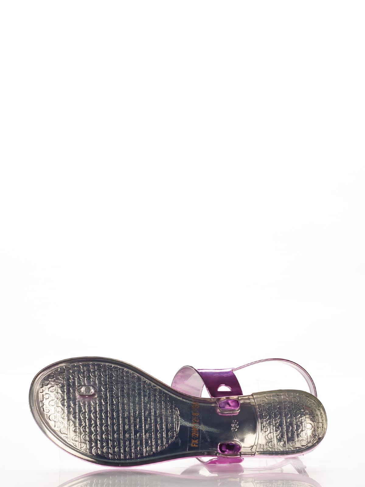 Сандалии-вьетнамки фиолетовые | 2561602 | фото 5