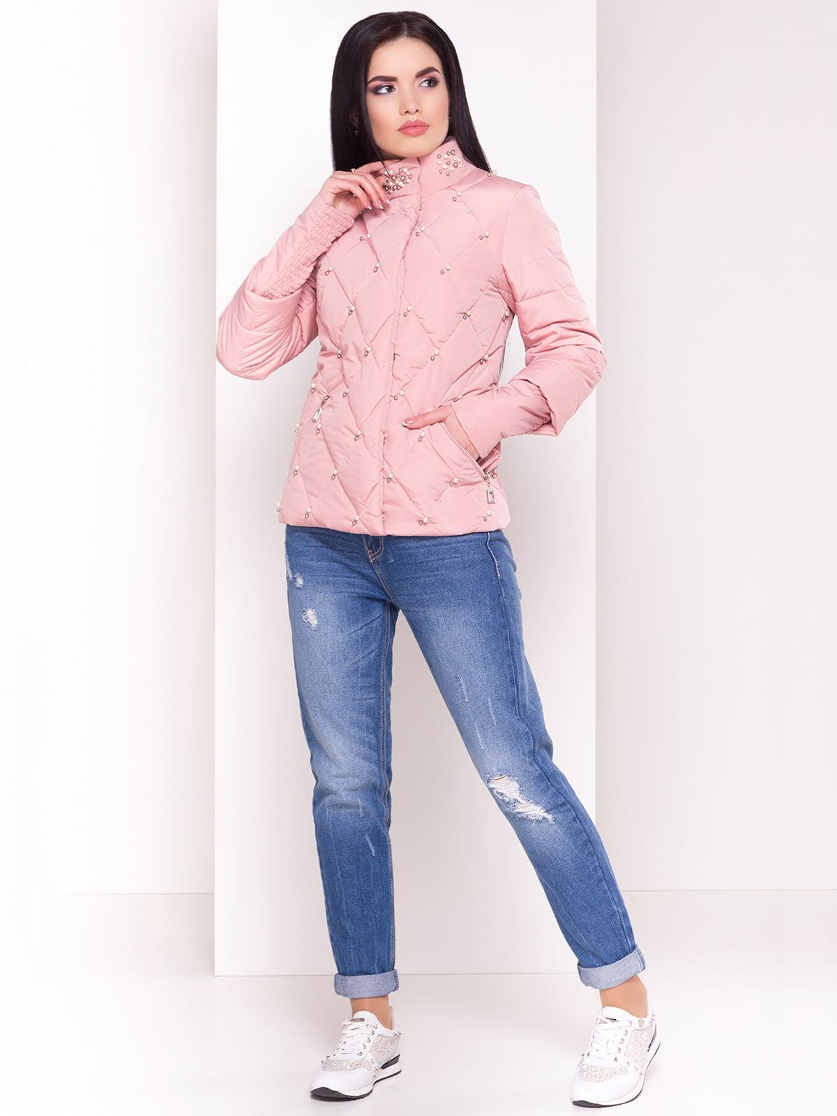 Куртка кольору пудри   4179048   фото 2