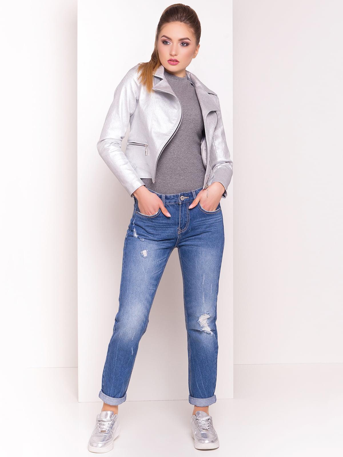 Куртка сріблястого кольору | 4179049
