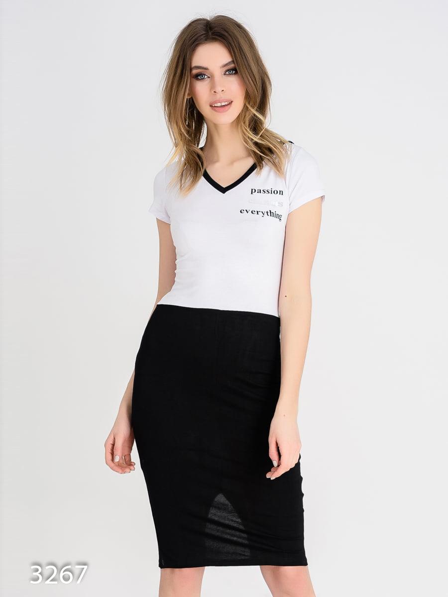 Платье черно-белое | 4165340