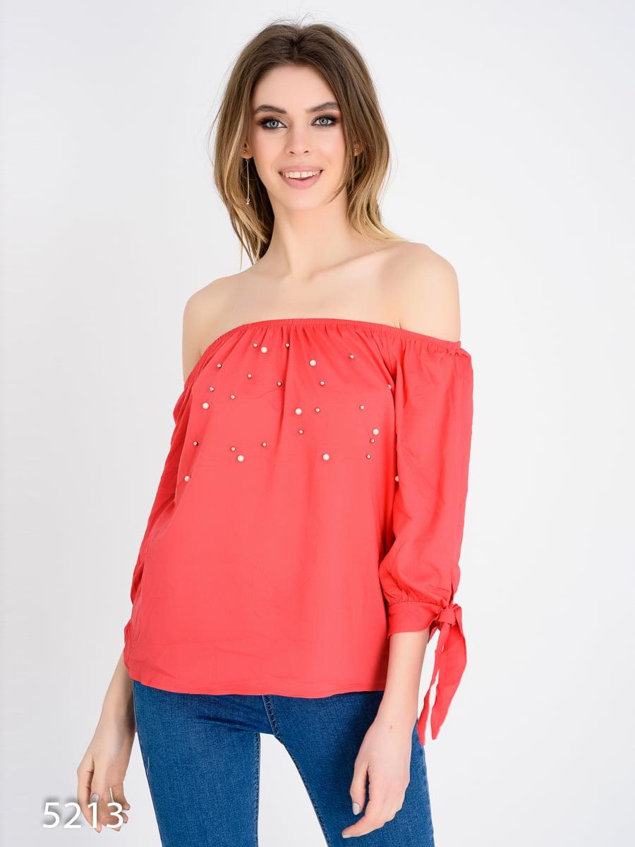 Блуза коралловая | 4184956