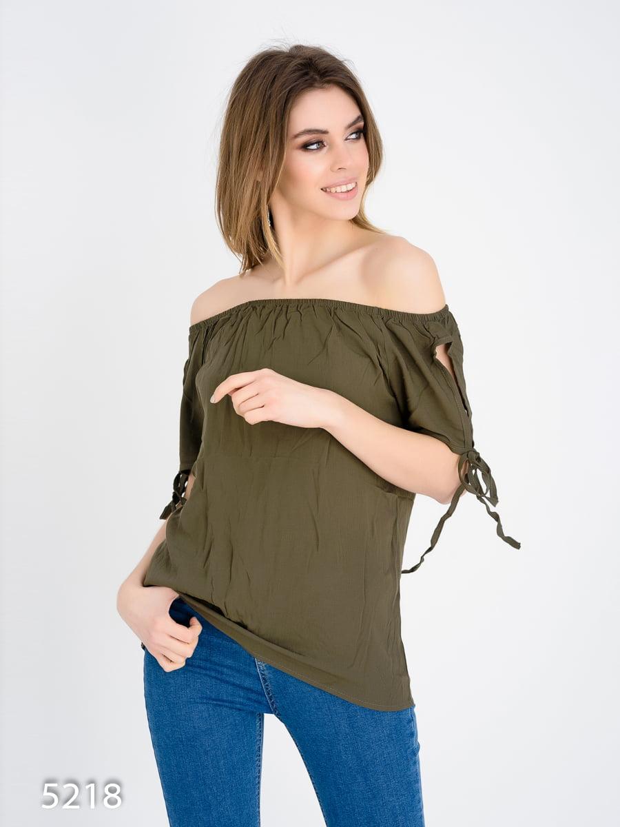 Блуза кольору хакі | 4185008