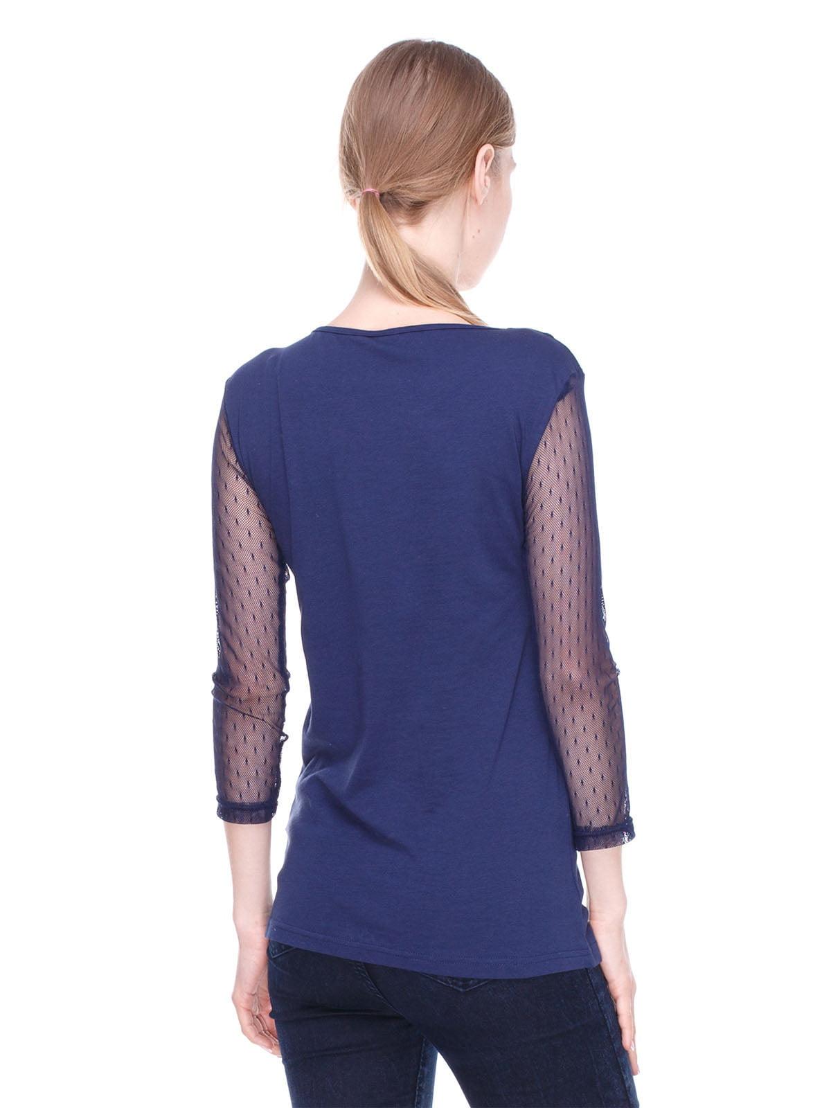 Блуза синя | 4180414 | фото 2