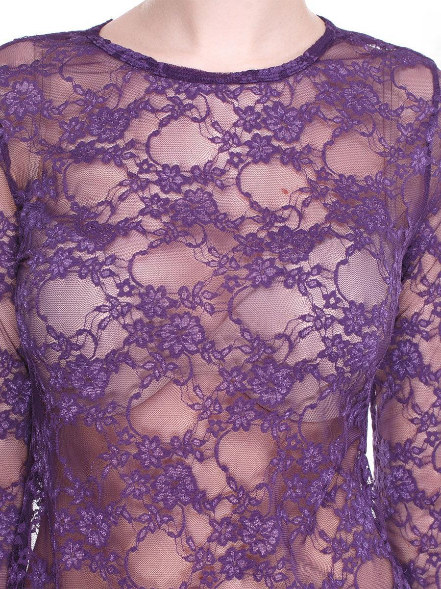 Блуза фіолетова ажурна | 2108984 | фото 3
