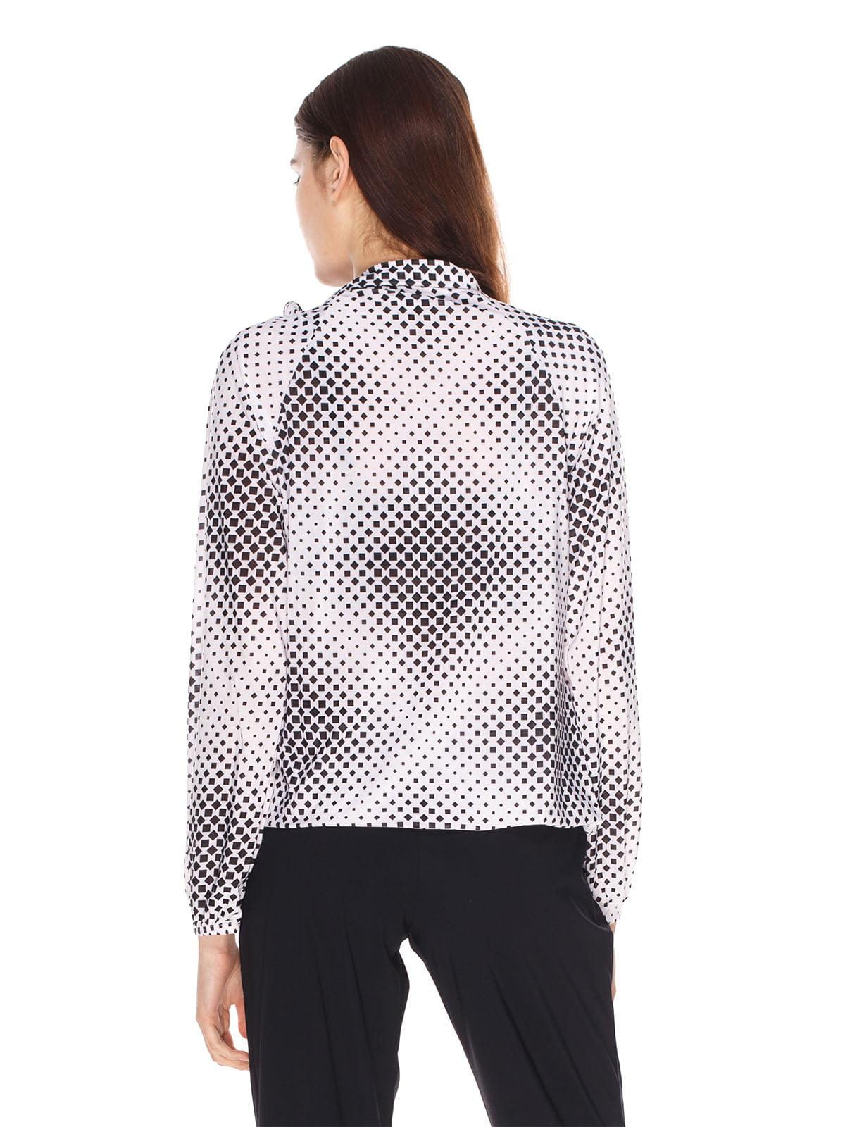 Блуза біла в принт | 4180421 | фото 2