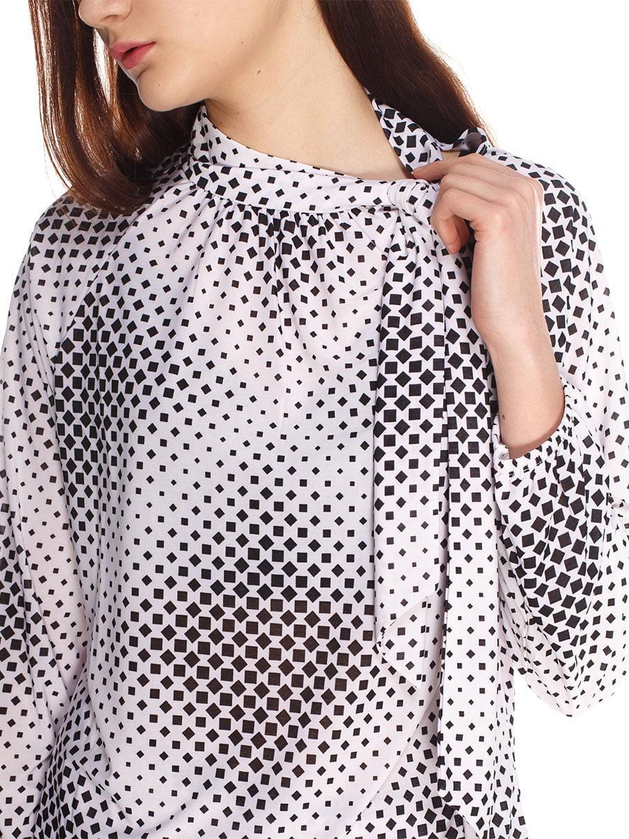 Блуза біла в принт | 4180421 | фото 3