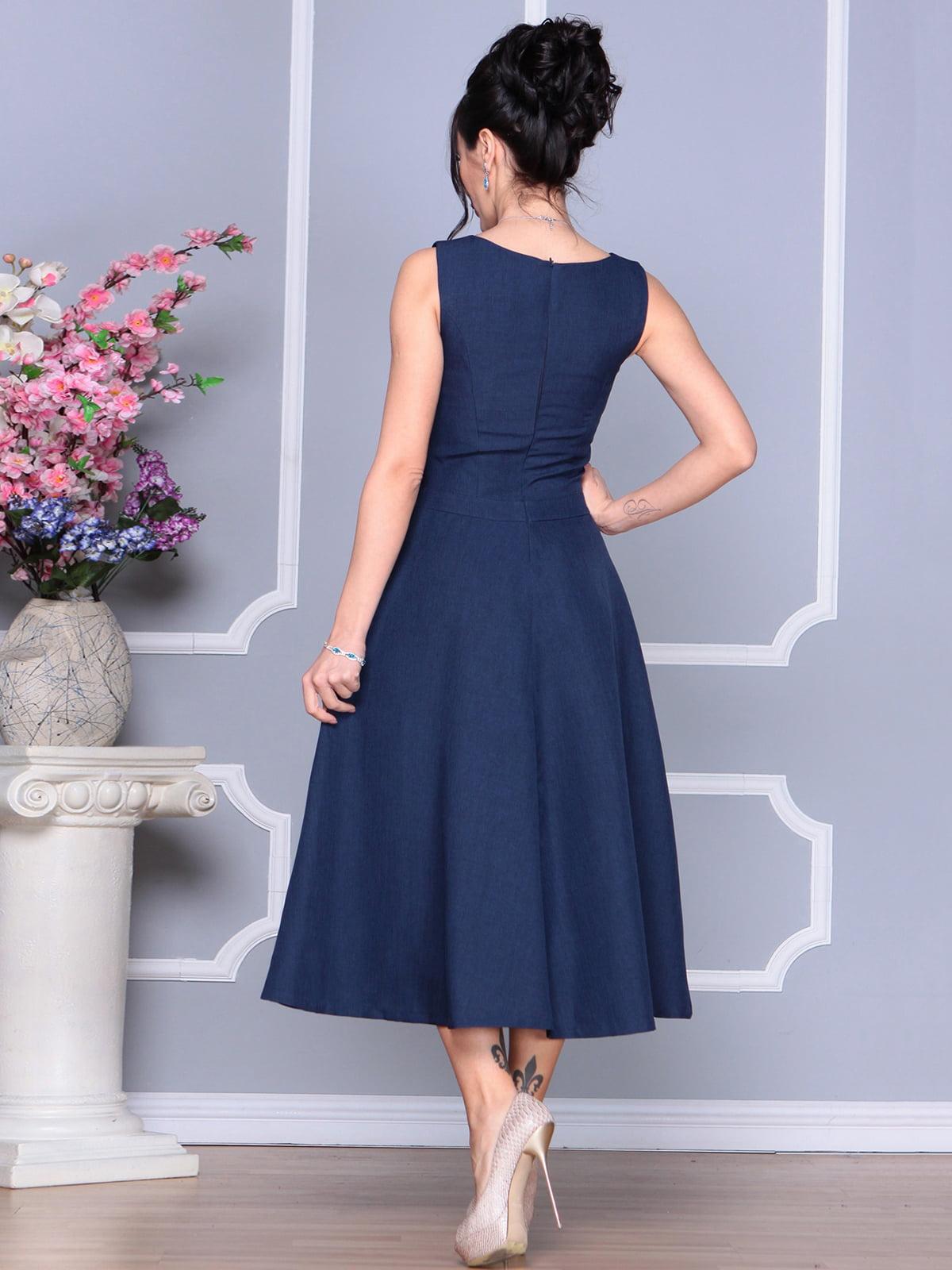 Платье темно-синее | 4186789 | фото 2