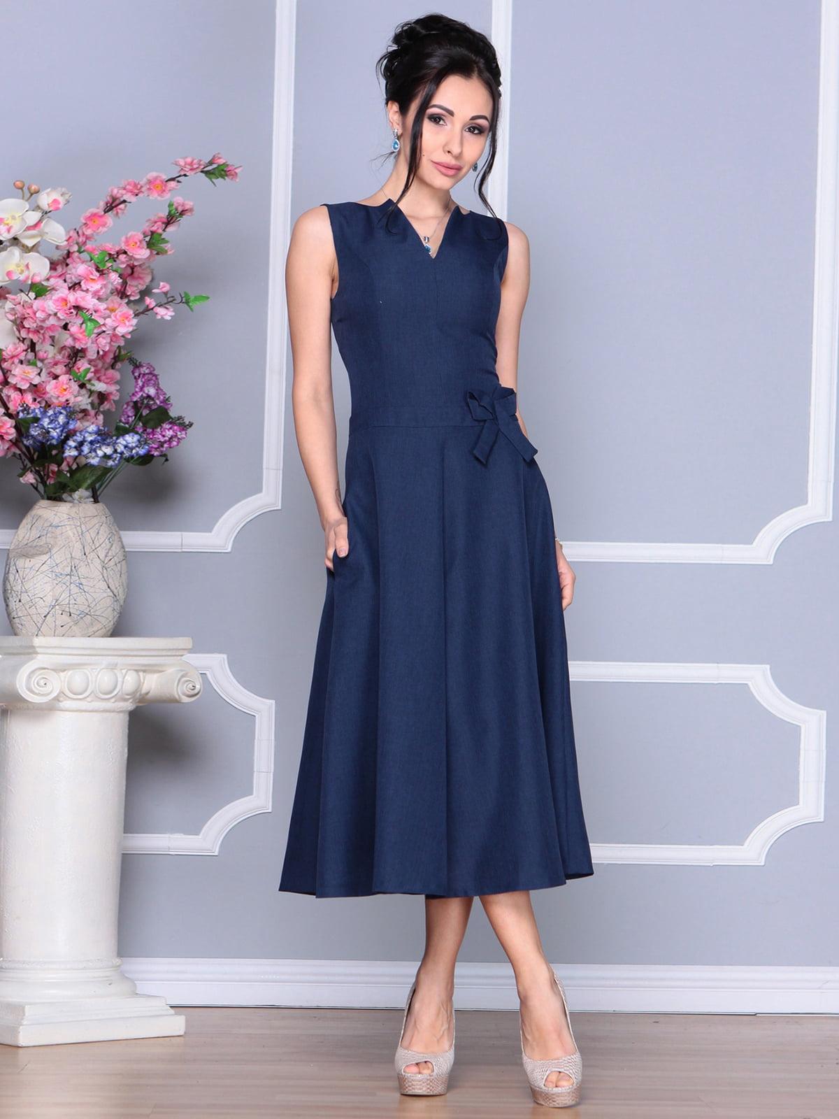 Платье темно-синее | 4186789 | фото 3